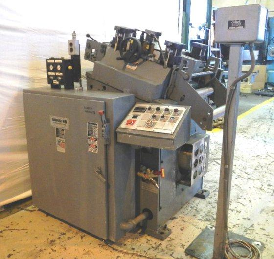 """14"""" x .120"""" MINSTER MS-20-14-7, 7 ROLLS (3 OVER 4), .012"""" - .187"""" THICKNESS, 120 - 1,200 IPM VARIABLE, 5 HP, 1993 (9990)"""