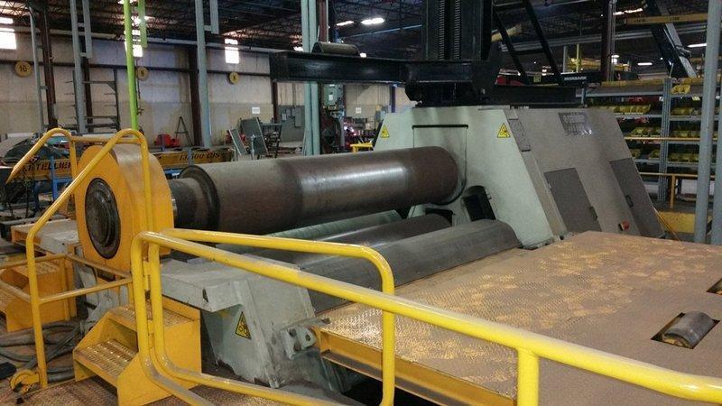 """10' x 2 3/4"""" Cole Tuve Hydraulic CNC 4-Roll Plate Roll (Year 2012)"""