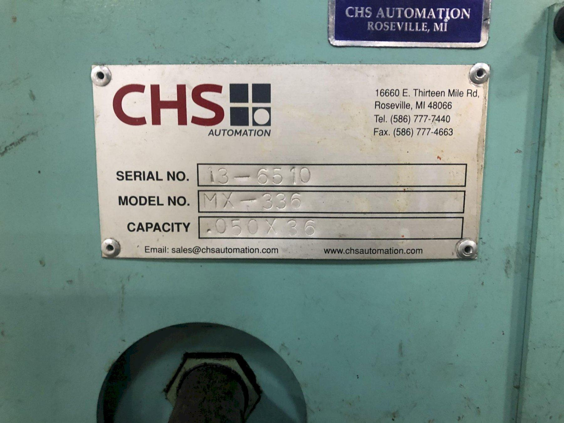 "15000 lbs x 36"" CHS Automation Servo Feed Line, New 2013"