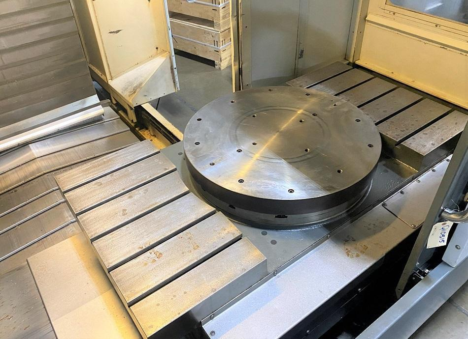 "HAAS EC-1600 4-AXIS CNC HORIZONTAL MACHINING CENTER, Haas CNC Control, 64"" x 36"" Table Size, 30"" 4th Axis Rotary Table, X=64"", Y=50"", Z=32"", 7500 RPM Spindle, Cat 50, 30 ATC, New 2011."