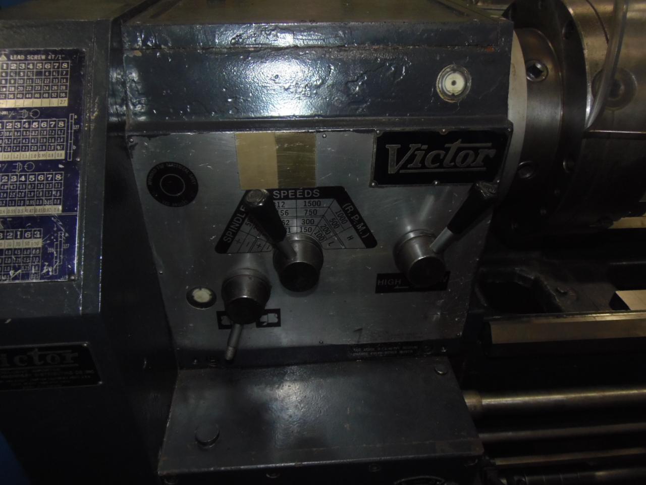 "20 X 60 VICTOR MODEL 2060, 12"" 3J, 3 1/8"" HOLE, 1500 RPM, INCH/METRIC THREADING"