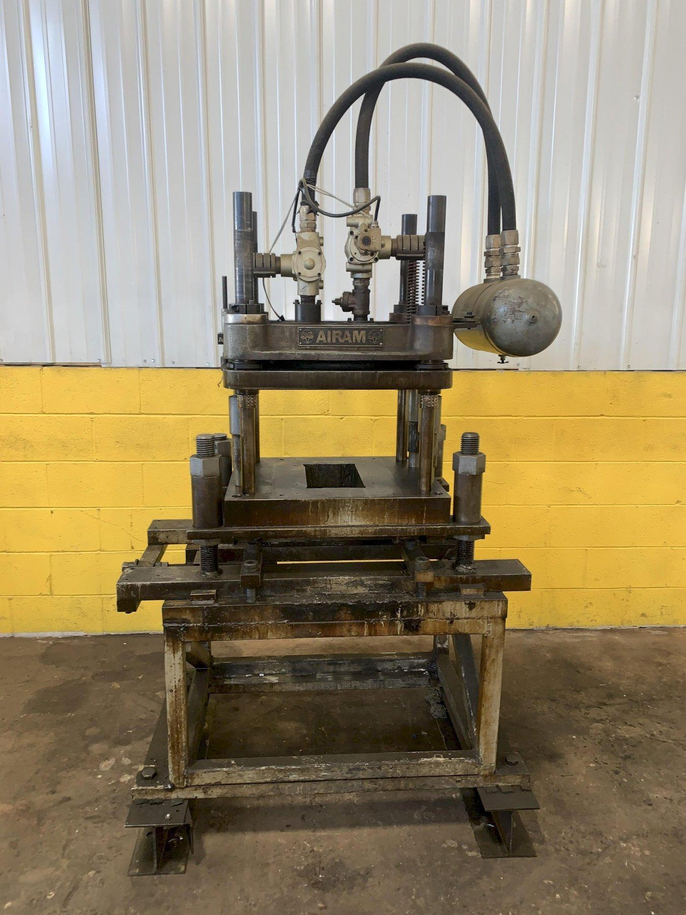 12 TON AIRAM 4-POST DUAL VALVE CUTOFF PRESS: STOCK #13723