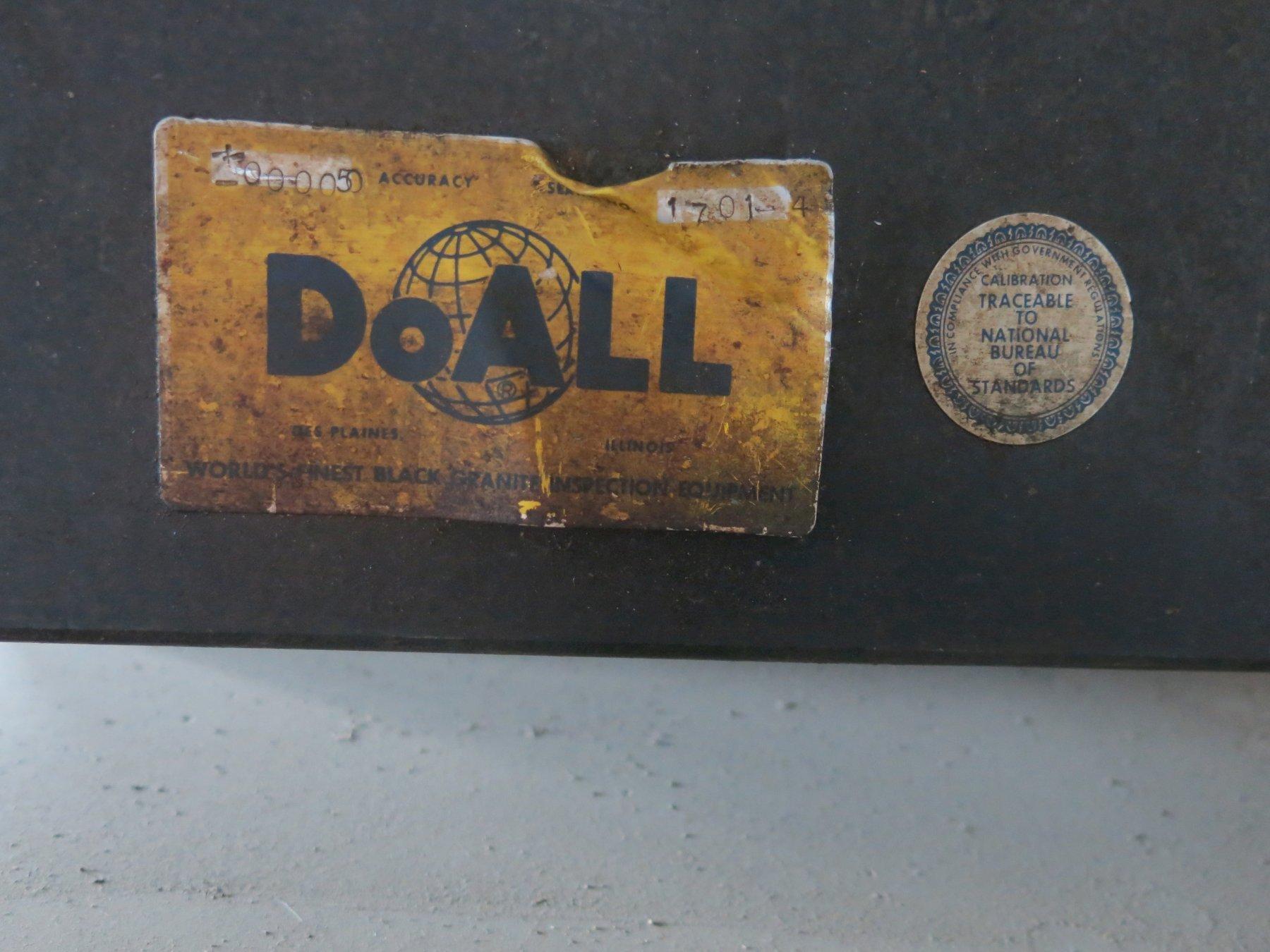 "Doall 30"" x 24"" x 5"" Black Granite Surface Plate"