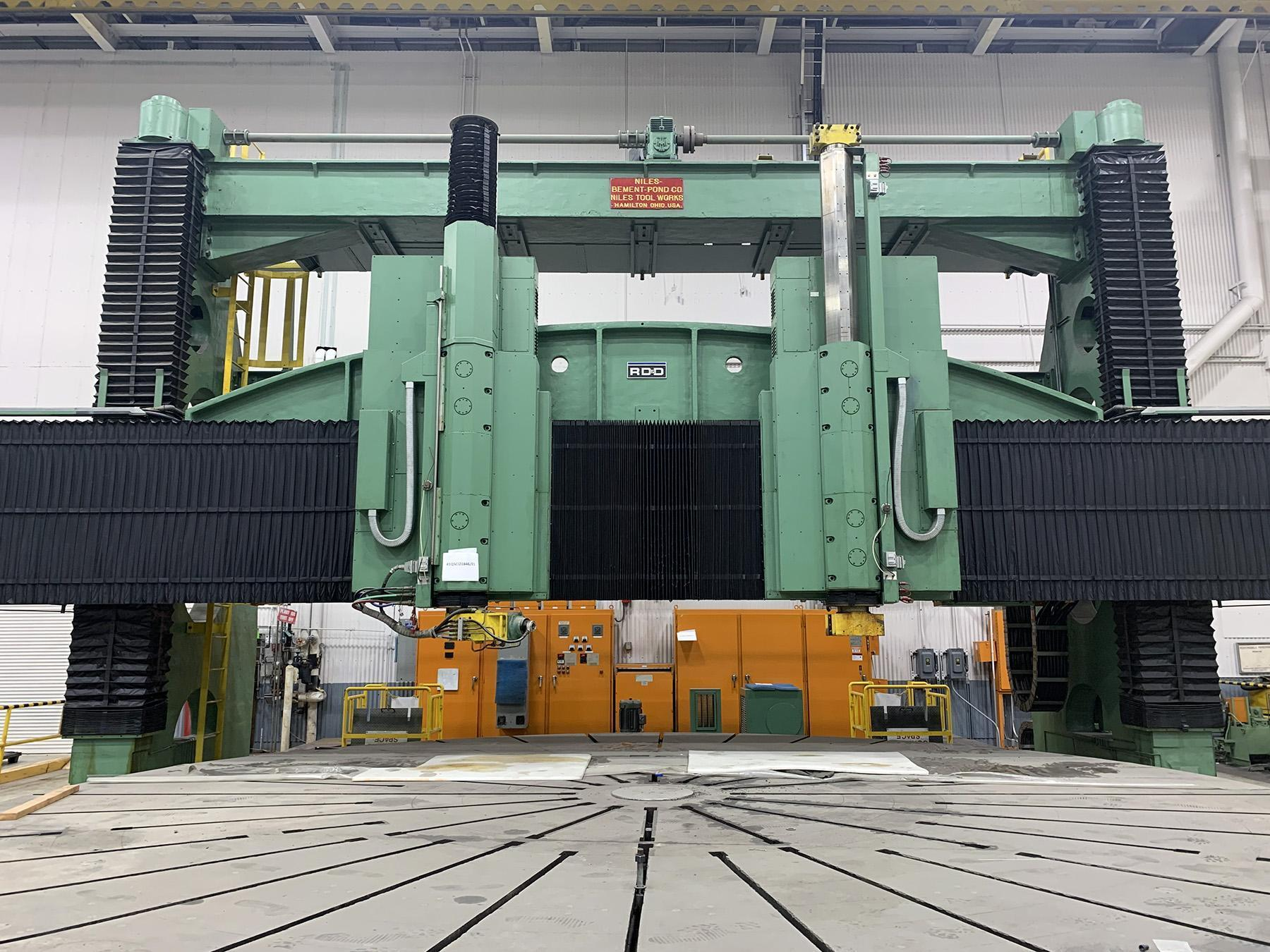 USED, 27' NILES CNC VERTICAL BORING MILL