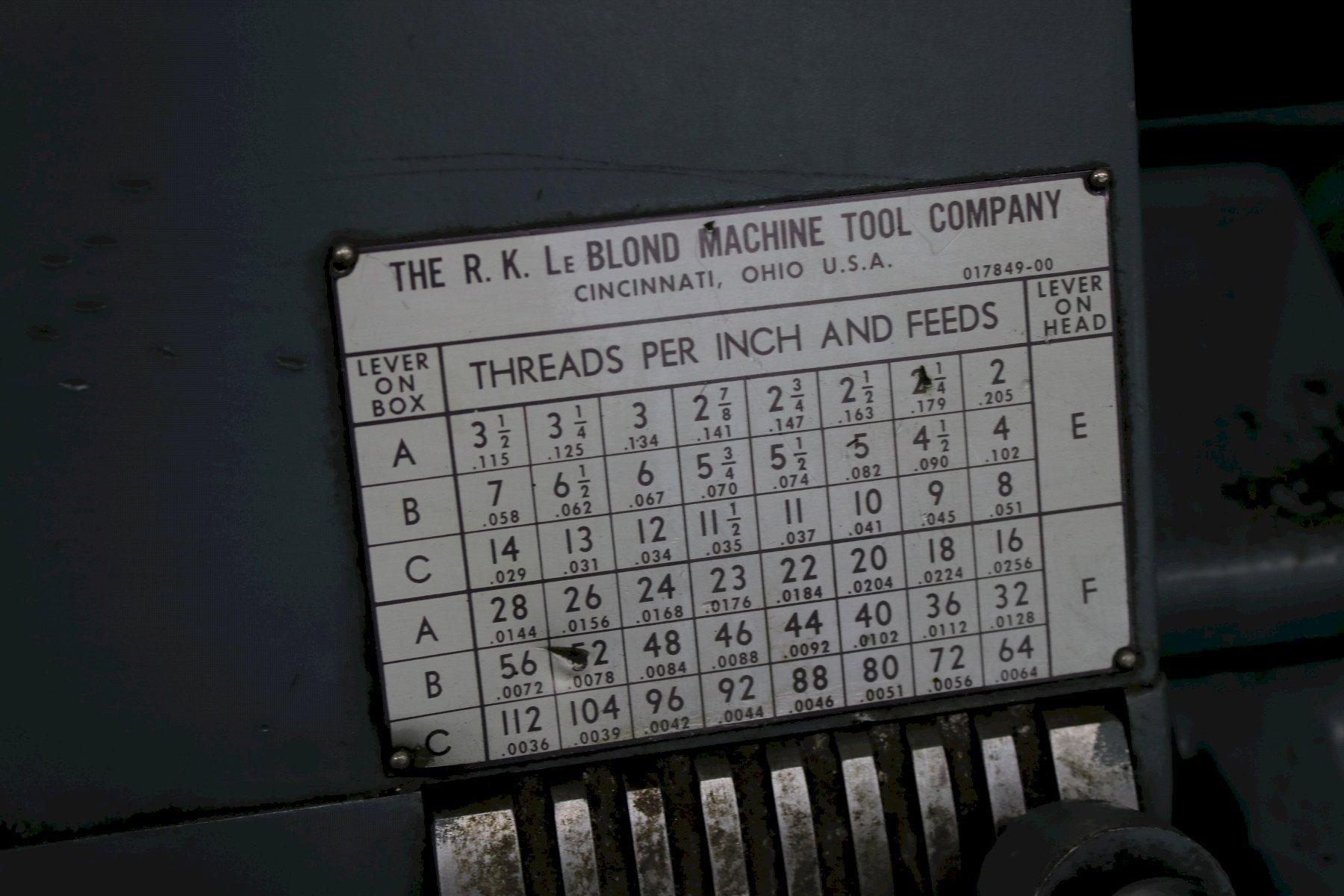 "26"" X 144"" LEBLOND GAP BED ENGINE LATHE: STOCK #73965"