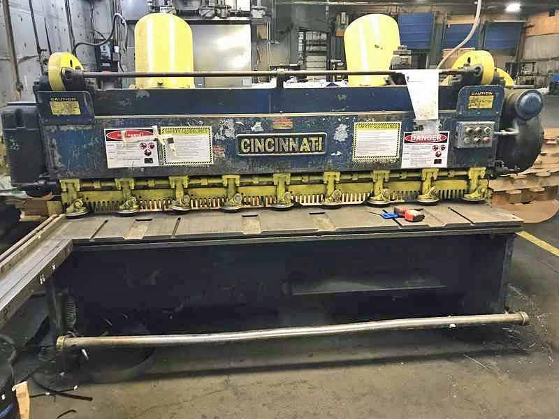 "0.187"" x 8' Cincinnati Power Sq. Shear"