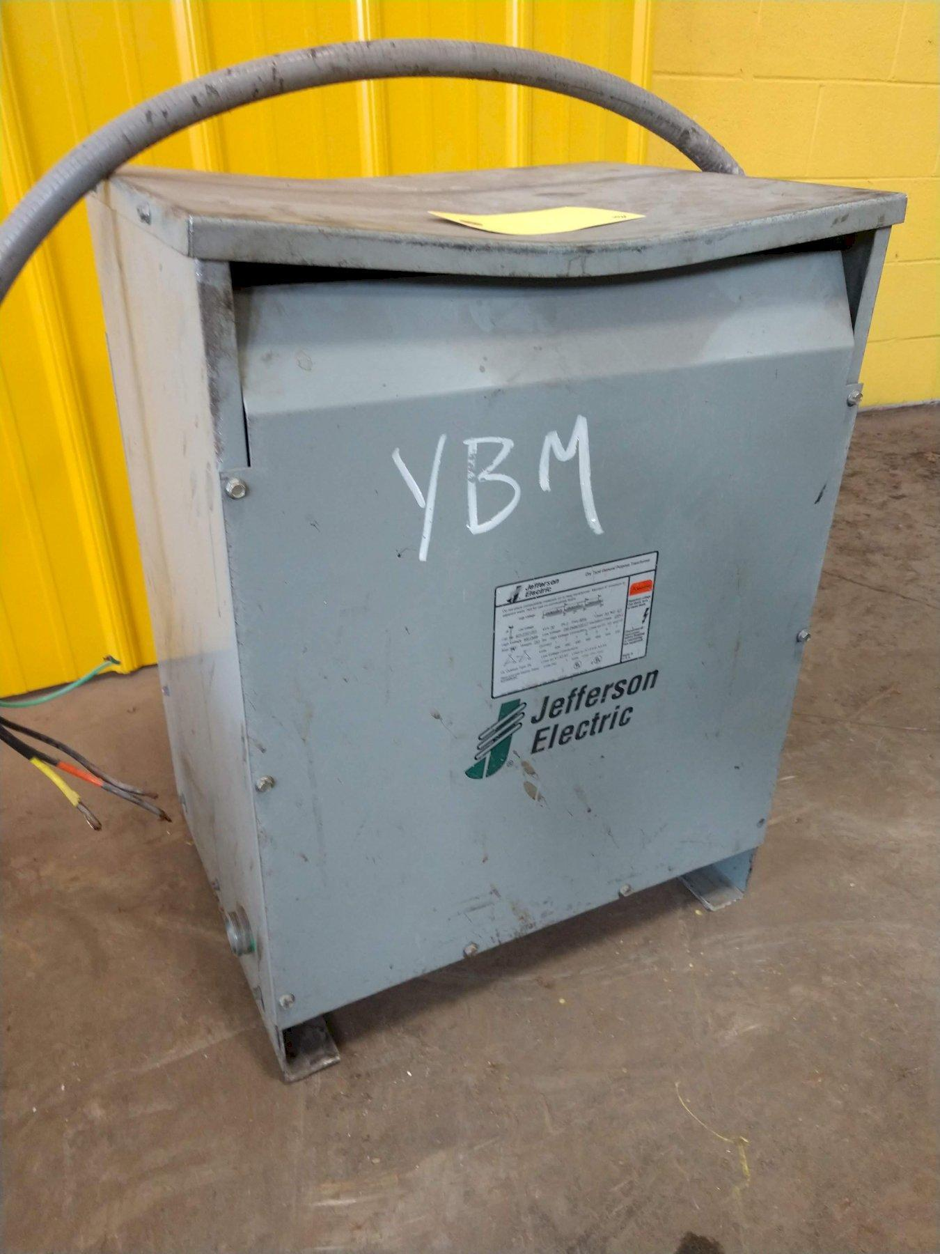 30 KVA JEFFERSON ELECTRIC 480 DELTA TO 240 DELTA/120 CT ELECTRICAL TRANSFORMER: STOCK 12902