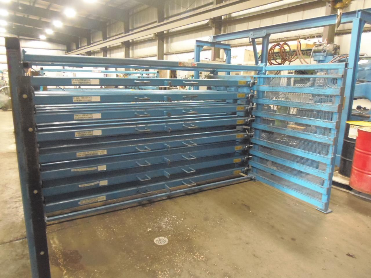 """48"""" x 120"""" ROLL OUT SHEET RACK WITH 5 SHELVES"""