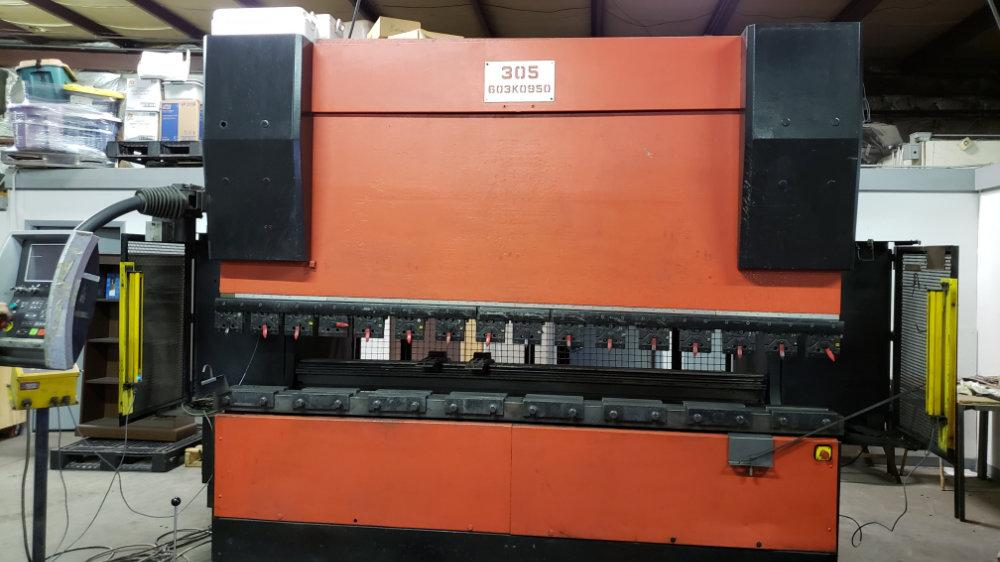 USED AMADA 6-AXIS CNC HYDRAULIC PRESS BRAKE, Model HFE 1703S, 187 ton x 10', Stock No. 10540