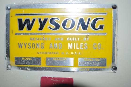 25 Ton Wysong Mechanical Press Brake