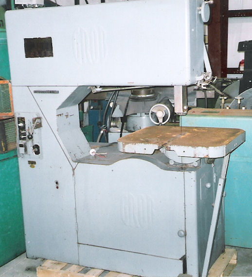 "36"" GROB VERTICAL BAND SAW"