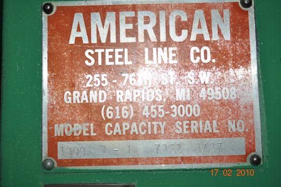 "36"" x .100 AMERICAN STEEL LINE STRAIGHTENER"