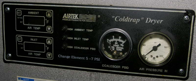 AIRTEK REFRIGERATED AIR DRYER