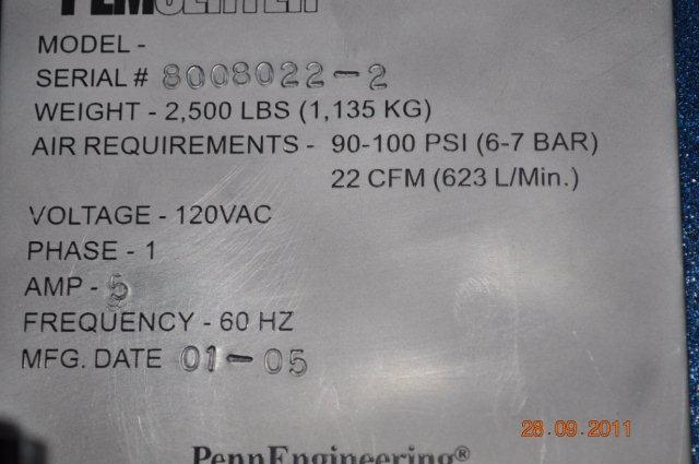 Pemserter In Die Insertion Machine