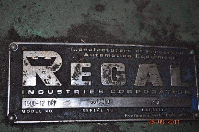 """1500 LB x 12"""" REGAL DOUBLE END UNCOILER MOTORIZED"""