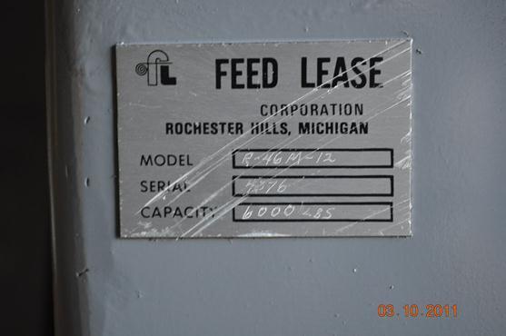 "6000 LB x 12"" FEED LEASE UNCOILER NON-MOTORIZED"