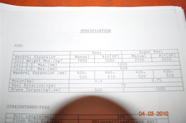 "4400 lb. x 12"" x 0.125 ORII SERVO FEED LINE"