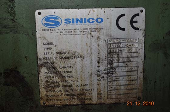 """3.58"""" SINICO CUT OFF & END FINISHER"""
