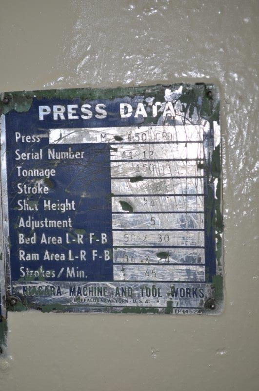 150 TON NIAGARA OBI  PRESS