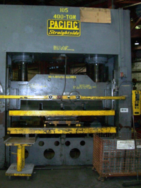 400 TON PACIFIC STRAIGHT SIDE HYDRAULIC PRESS