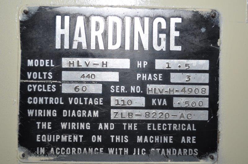 "11"" x 18"" HARDINGE HLV-H PRECISION LATHE"