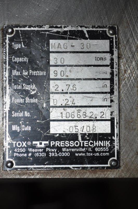 30 TON TOX AIR PRESS
