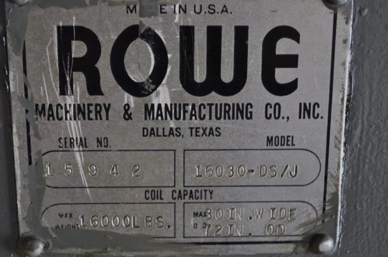 "16,000 LB x 37"" ROWE UNCOILER MOTORIZED"