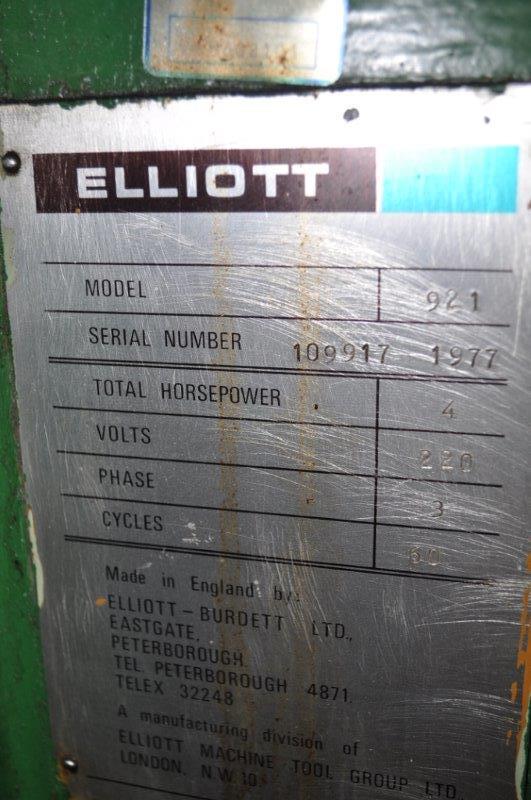 """9"""" x 21"""" ELLIOT SURFACE GRINDER"""