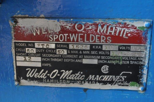 10 KVA WELD-O-MATIC SPOTWELDER