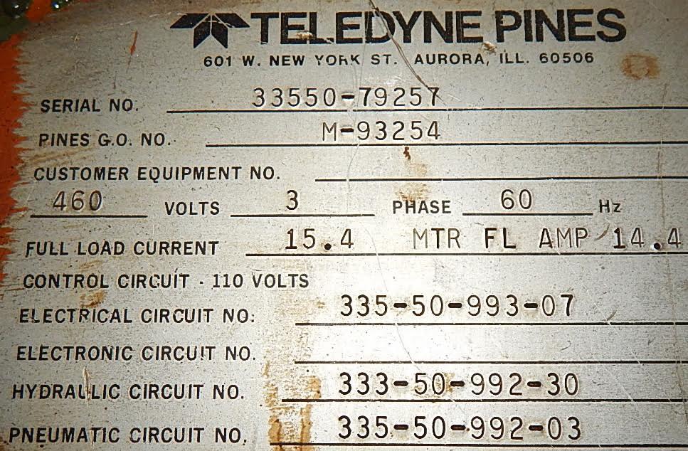 "1-1/2"" PINES MODEL 15 DYNACUT TUBE CUT OFF"