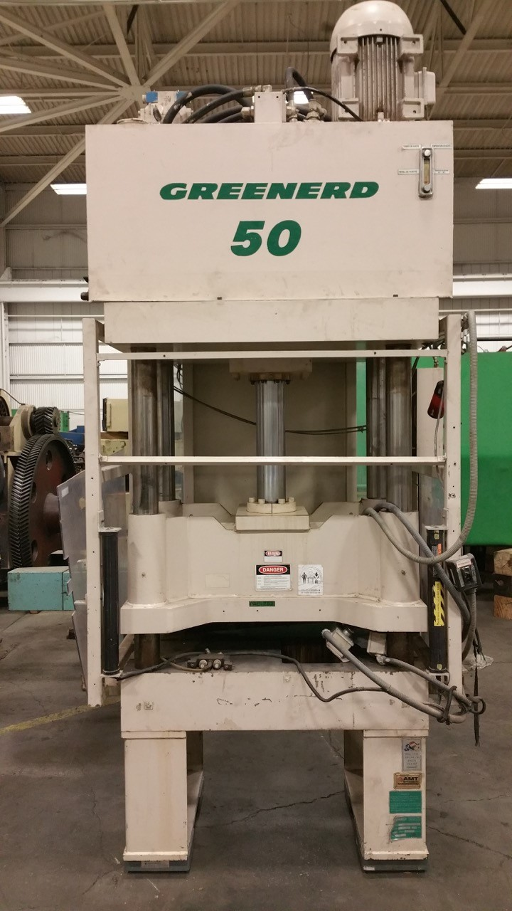 50 TON GREENERD 4 POST HYDRAULIC PRESS