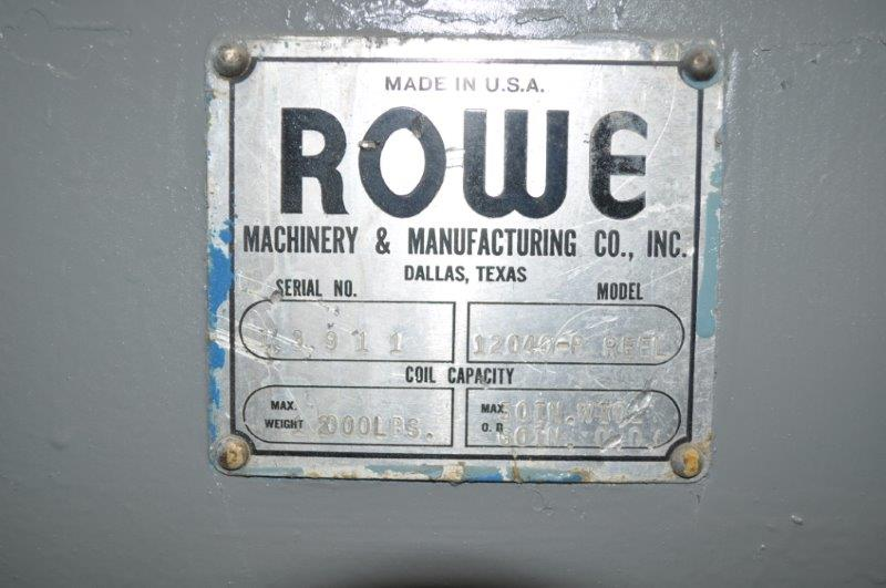 "12000 x 48"" ROWE UNCOILER MOTORIZED"
