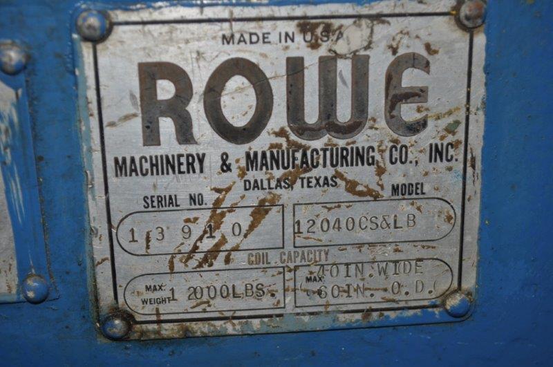 12,000 ROWE COIL CAR