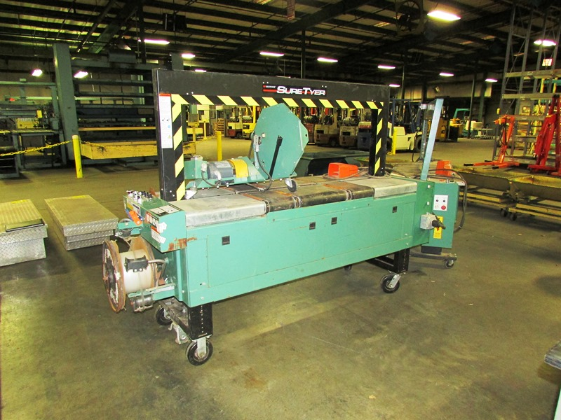 """25"""" x 50"""" SIGNODE SURE TYER AUTOMATIC STRAPPING MACHINE"""