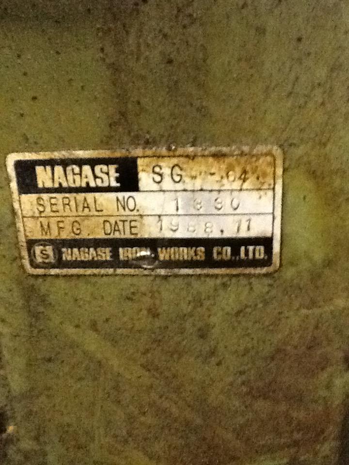 "15.5"" x 23.5"" NAGASE HYDRAULIC SURFACE GRINDER"