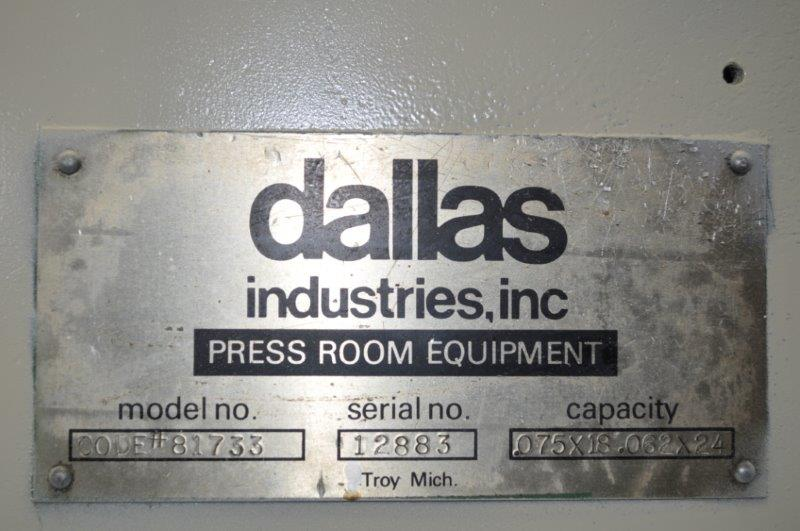"24"" x .060"" DALLAS STRAIGHTENER"