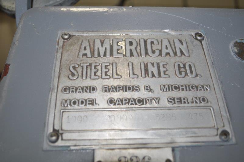 "20,000 x 48"" AMERICAN STEEL LINE MOTORIZED UNCOILER"