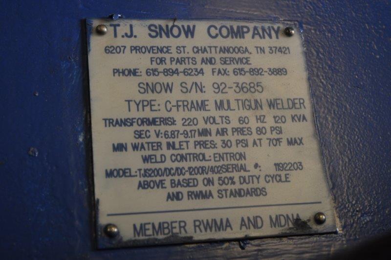 120 KVA TJ SNOW MULTI GUN 3 HEAD SPOT WELDER