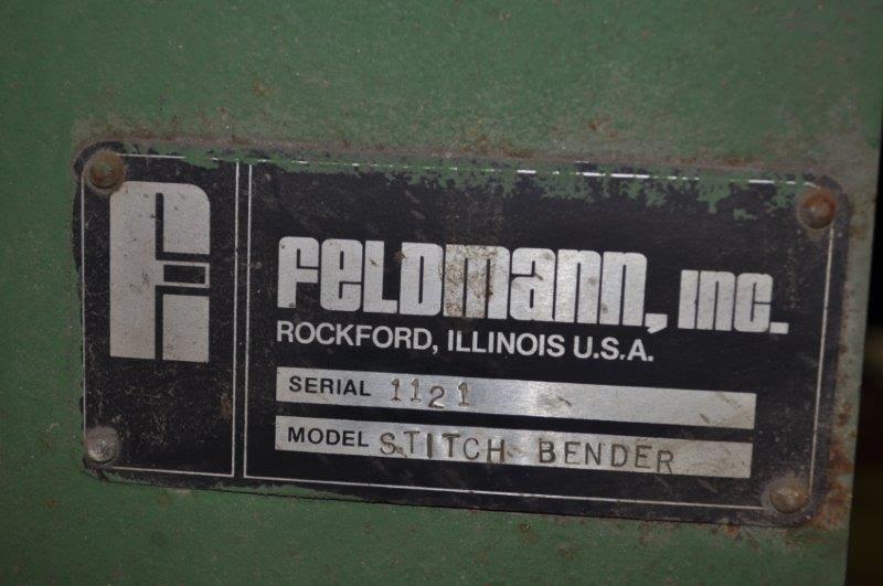 "76"" FELDMAN STITCH BENDER"