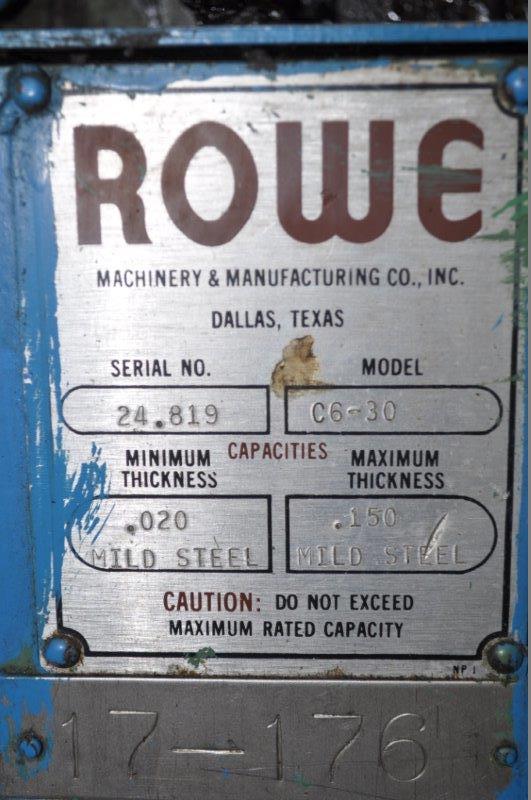 """30"""" x .150"""" ROWE STRAIGHTENER"""