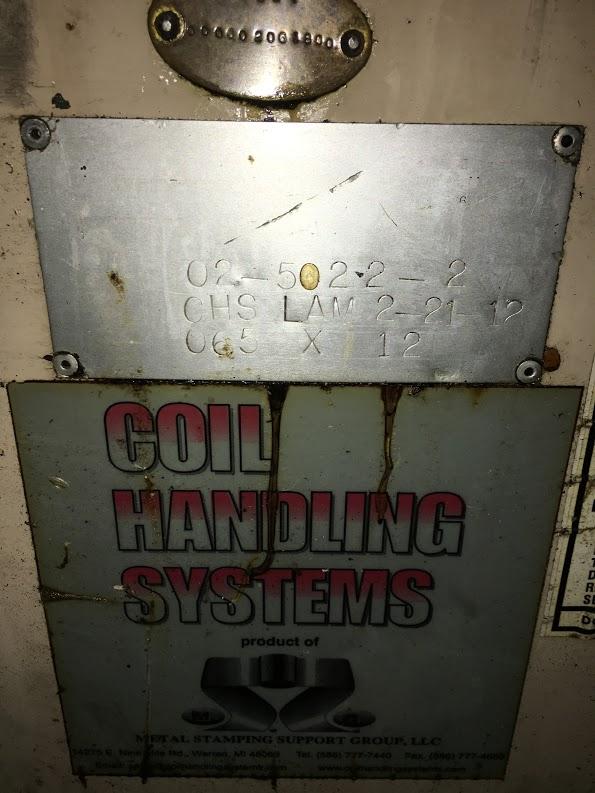 "12"" x .065"" COIL HANDLING SYSTEMS STRAIGHTENER"