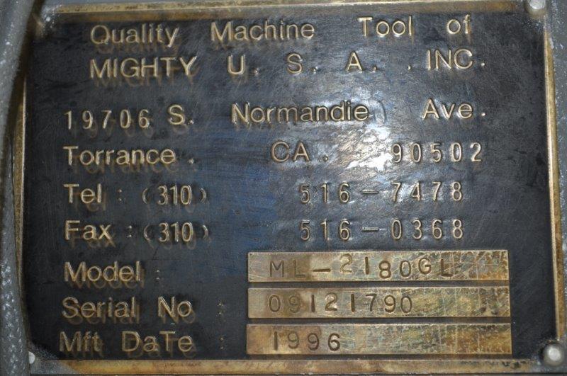 "21"" x 80""  MIGHTY TURN GAP BED ENGINE LATHE"