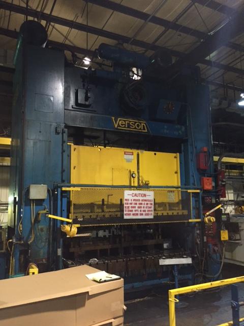 600 TON VERSON SSDC PRESS
