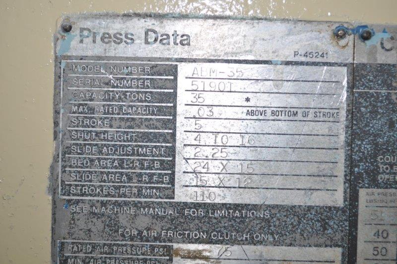 35 TON NIAGARA HORN PRESS