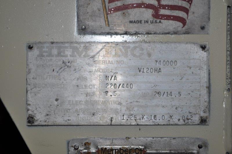 "HEM 18"" x 25"" VT125HA SMAT SAW MITERING VERTICAL BAND SAW"