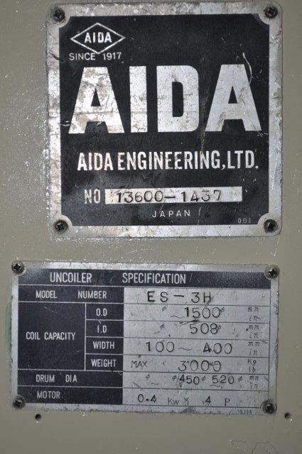 "6600 LB x 30"" AIDA UNCOILER MOTORIZED"