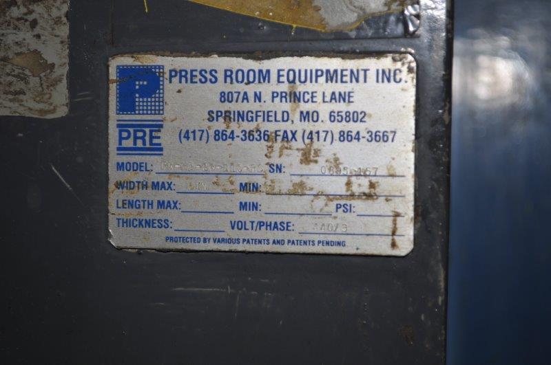 "6"" x .210"" PRESS ROOM EQUIPMENT STRAIGHTENER"