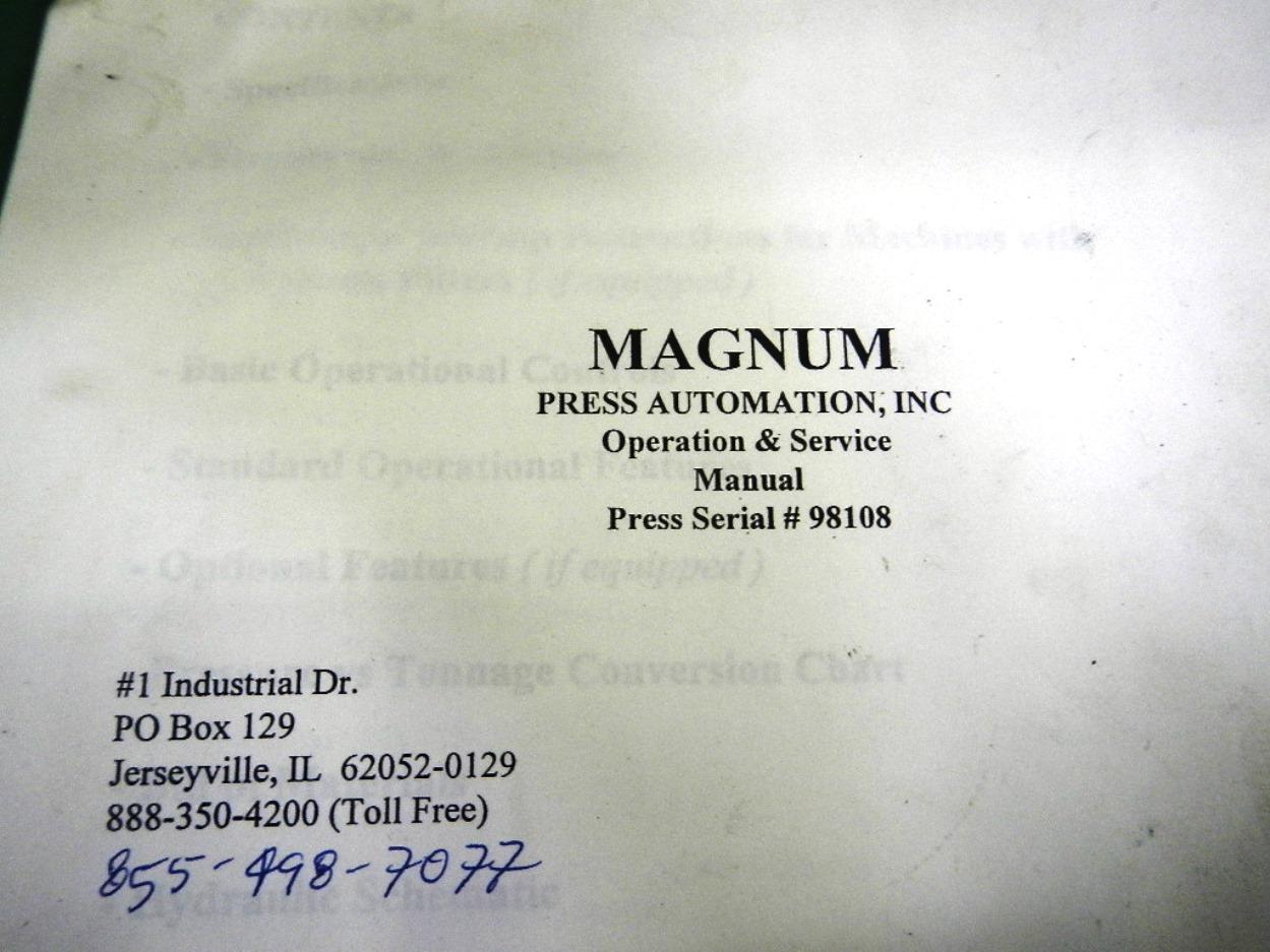 60 TON MAGNUM HYDRAULIC SPOTTING PRESS