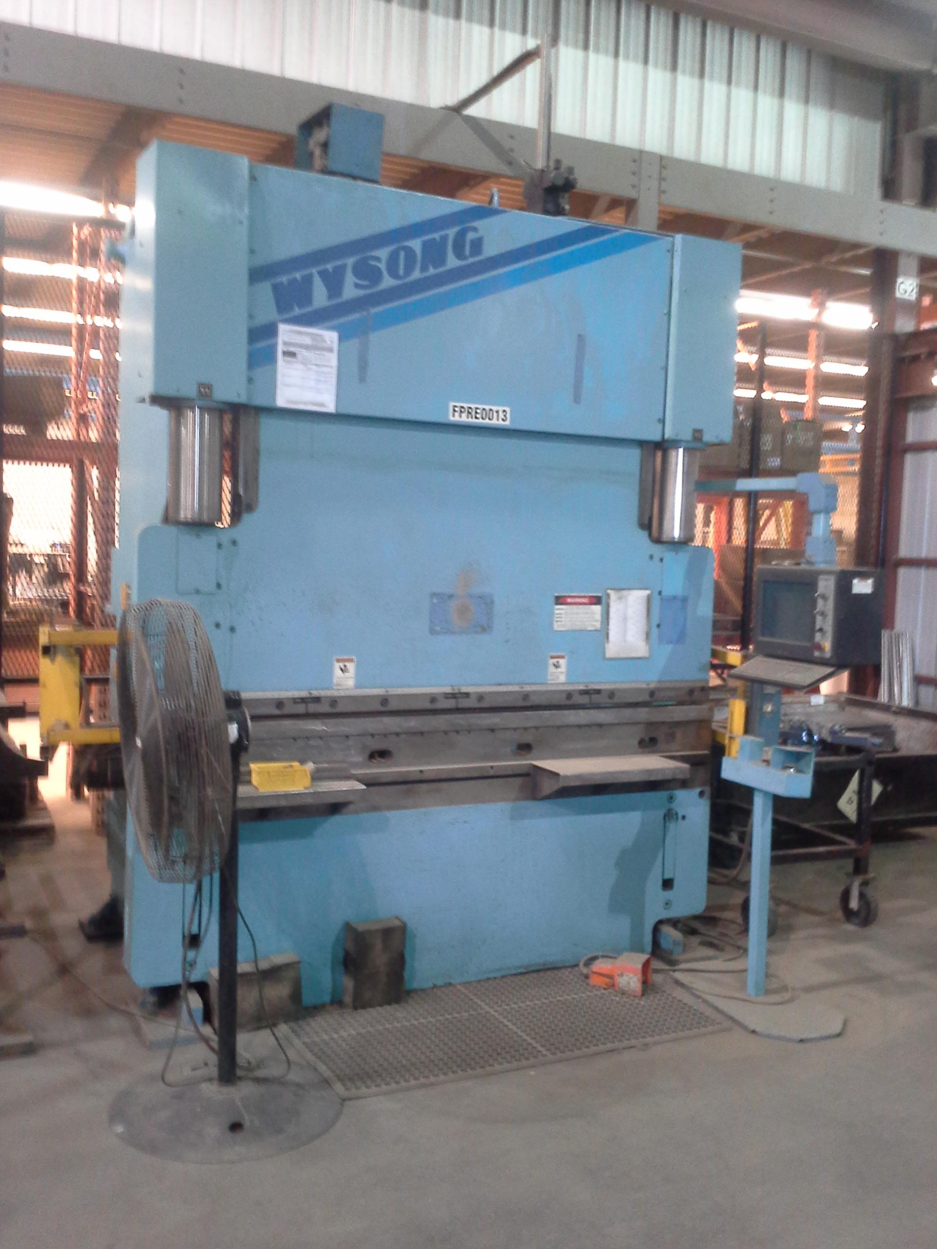 140 TON x 8' WYSONG CNC HYDRAULIC PRESS BRAKE