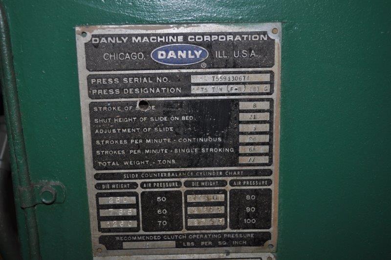 75 TON DANLY OBI PRESS